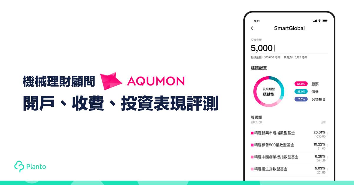 【機械理財顧問】AQUMON開戶、收費、投資表現評測