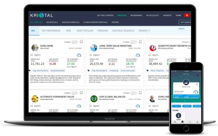 Kristal.AI的專家團隊設計了超過150種資產組合,透過人工智能演算法,分析投資者的財務目標、承受風險能力後,提供建基於大數據的持平策略。